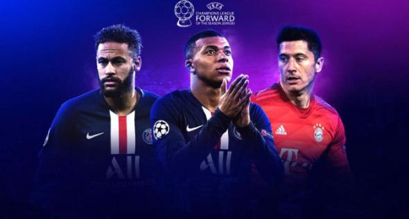 欧冠各位置最佳3位球员候选名单