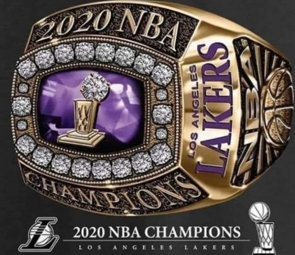 NBA总冠军戒指效果图出炉 湖人元素完美融合