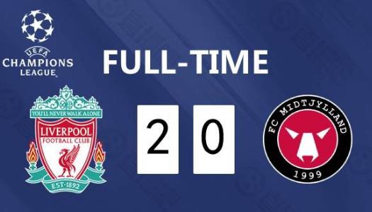 欧冠2020/2021利物浦vs中日德兰比赛回放