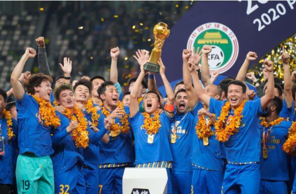 2020中超联赛第20轮冠亚军决赛广州恒大淘宝对阵江苏苏宁易购 苏宁2-1获得首冠