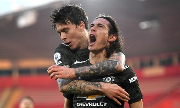 2020/21赛季英超第10轮曼联对阵南安普敦 曼联2球落后3-2逆转
