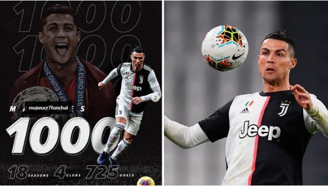 """尤文,罗纳尔多庆祝他的巅峰和1000场比赛:""""为胜"""