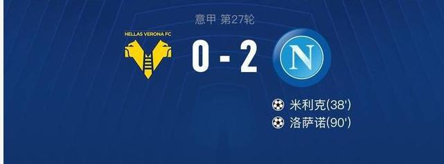 那不勒斯2-0轻松拿下维纳多,米力克和洛萨诺所