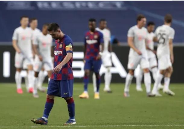 欧冠四分之一决赛巴萨vs拜仁赛事回放