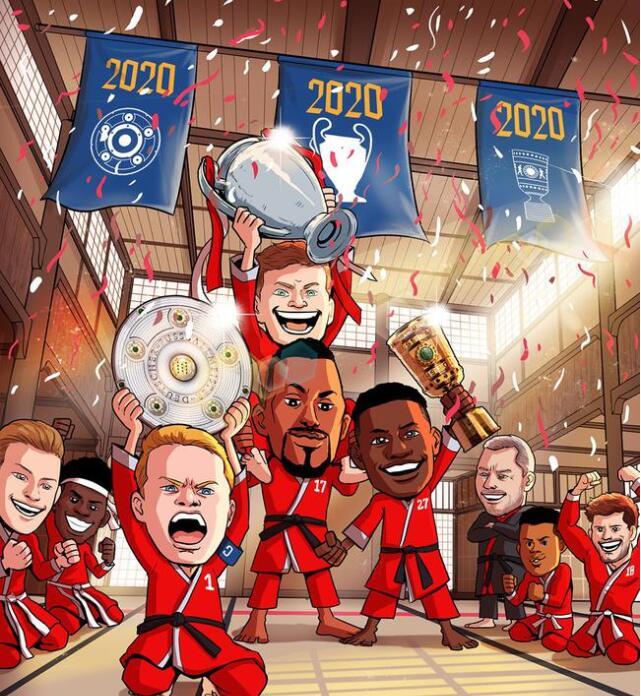 拜仁第六次赢得欧冠冠军 2020赛季拜仁全胜获得欧