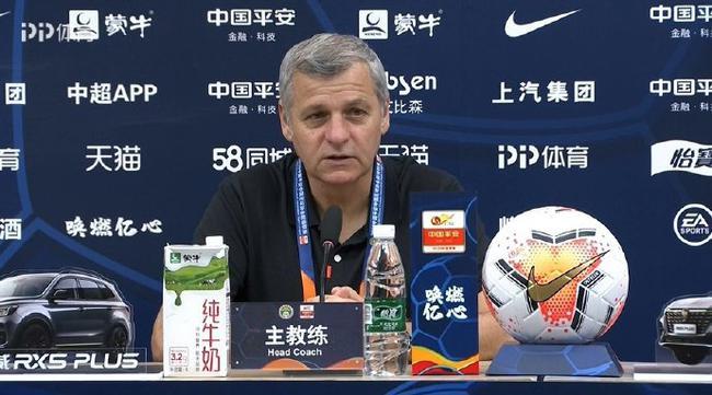 北京国安对战青岛黄海赛后采访 费尔