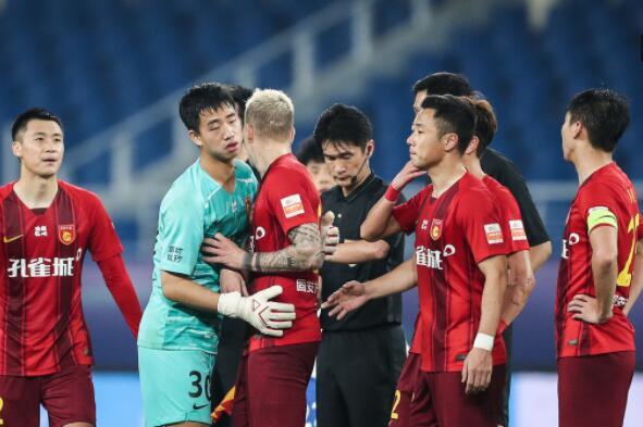 中超联赛第17轮争冠组河北华夏对阵山
